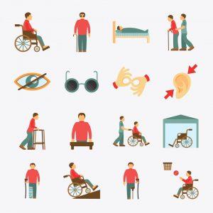 Osoby zróżnymi typami niepełnosprawności