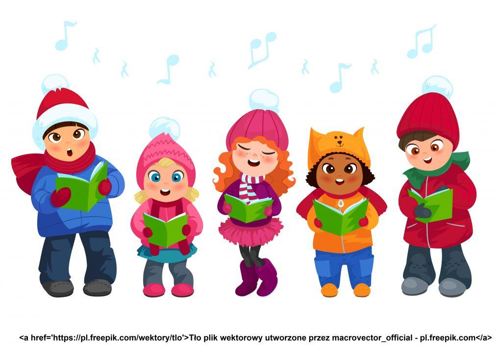 Dzieci śpiewające kolędy